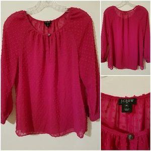 J. CREW Pink Tunic Long Sleeves Sz XS